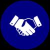 business mentoring handshake icon